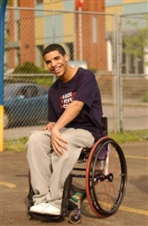 Image result for drake from degrassi wheelchair